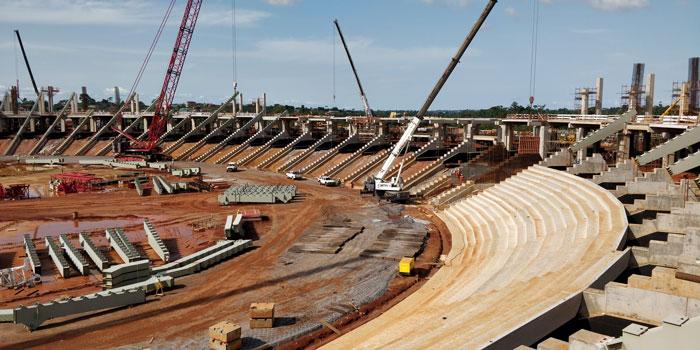 Fondazioni stadio Camerun