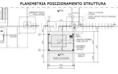 Realizzazione volume tecnico esterno edificio industriale – Sala Bolognese