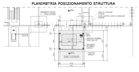 Realization of an external technical volume of an existing building – Sala Bolognese