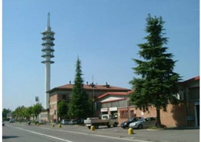 Progetto Torre cilindrica per telecomunicazioni Modena